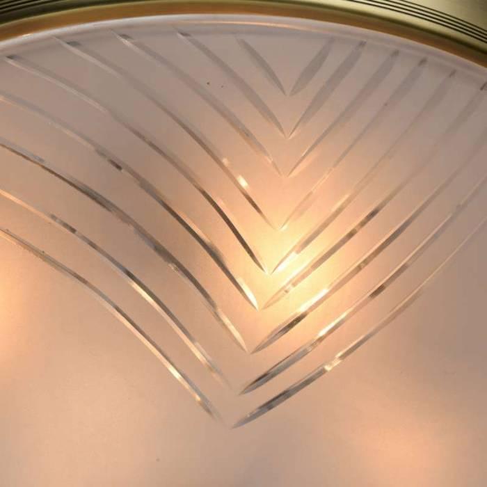 Plafonieră Bryanna, 20x40 cm, metal/ aluminiu/ sticla, alama