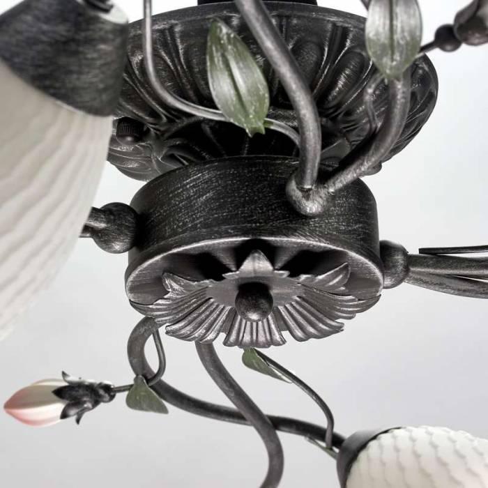 Plafonieră Caterina, 19x68 cm, metal/ sticlă, negru