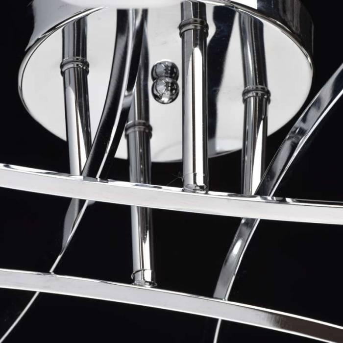 Plafonieră cu opt becuri Alena, 16x68 cm, metal/ sticla, crom