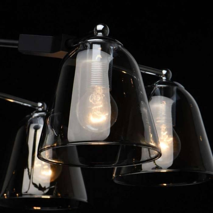 Plafonieră Donella, 40x65 cm, metal/ aluminiu/ sticla, negru