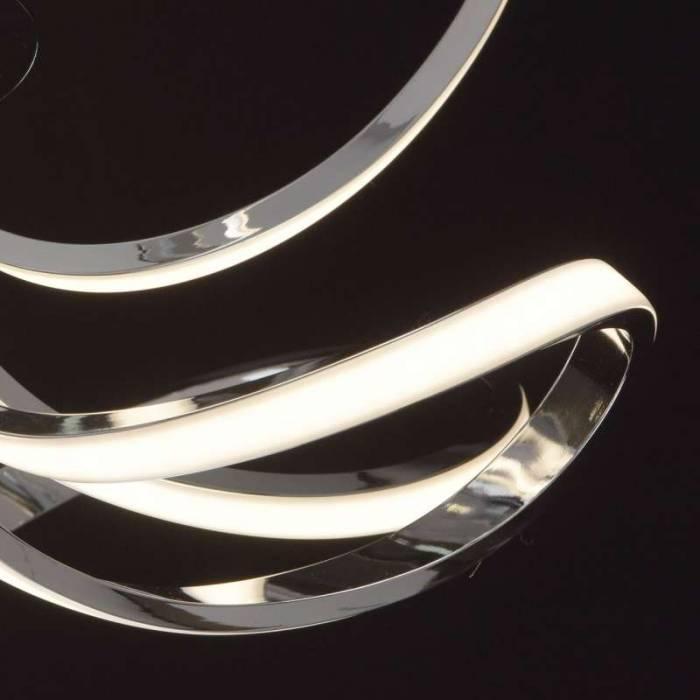 Plafonieră metal Adriane, 20x60 cm, metal/ aluminiu/ acril, crom