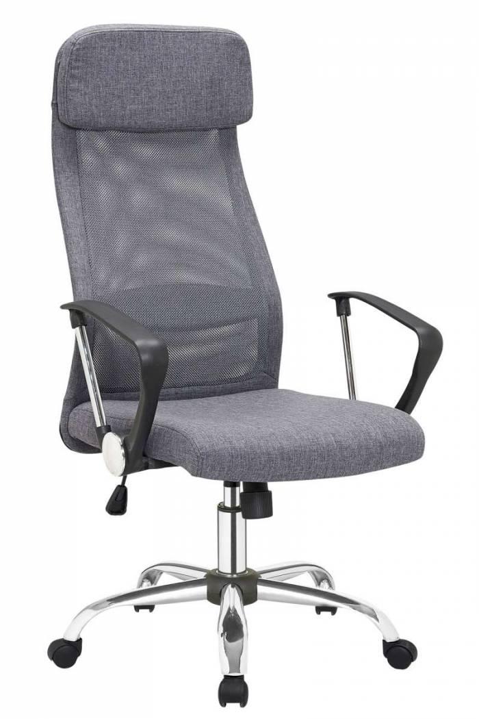 Scaun de birou cu spătar mesh Graphite, gri