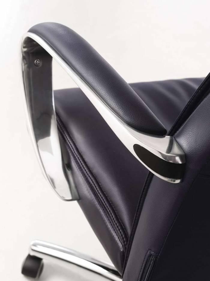 Scaun de birou Neratoli, piele naturală, negru