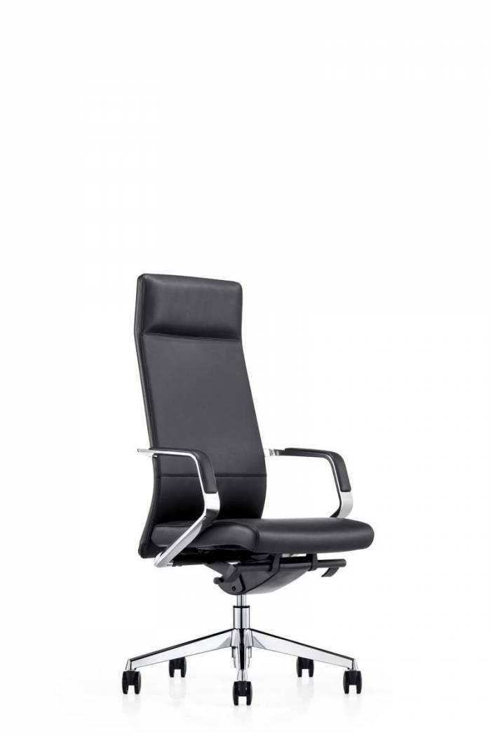 Scaun de birou Sinclair, piele naturală, negru