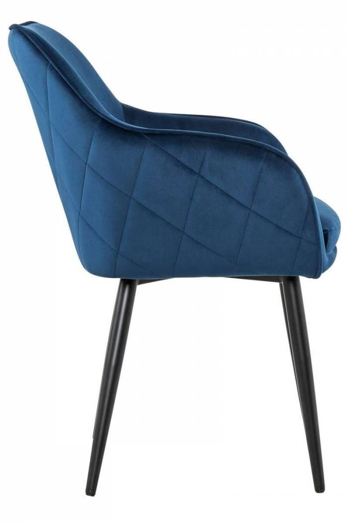 Scaun de dining Magnus, catifea, albastru