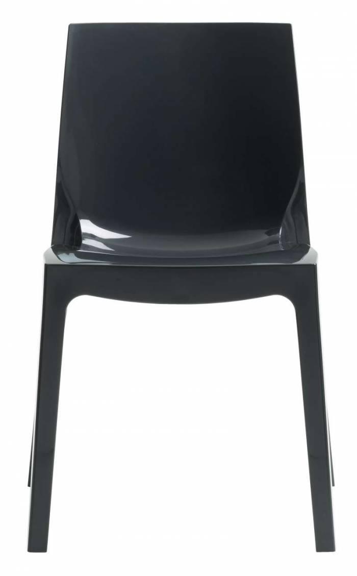 Scaun de dining Studio 60, plastic, negru