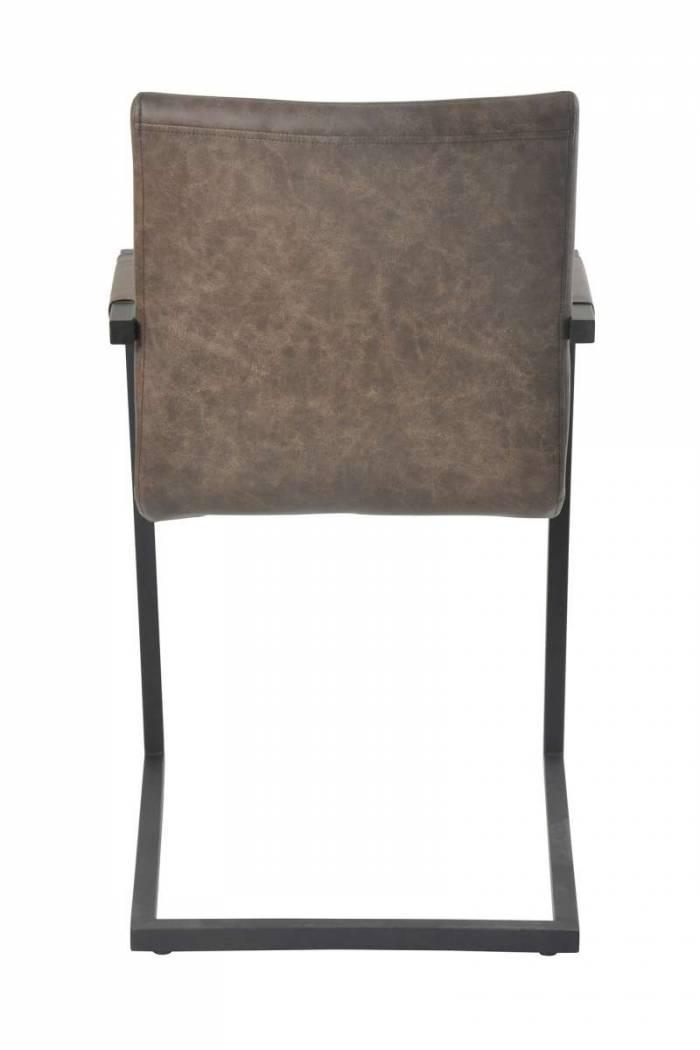 Set de 2 scaune de dining Madison, ecopiele, maro închis