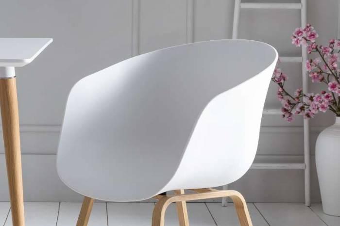 Set de 2 scaune de dining Orson, plastic, alb