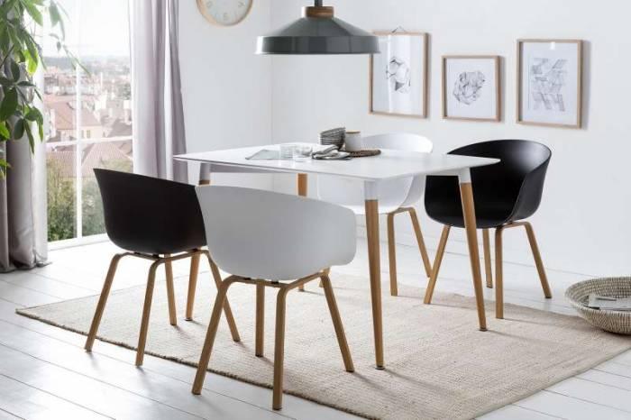 Set de 2 scaune de dining Orson, plastic, negru