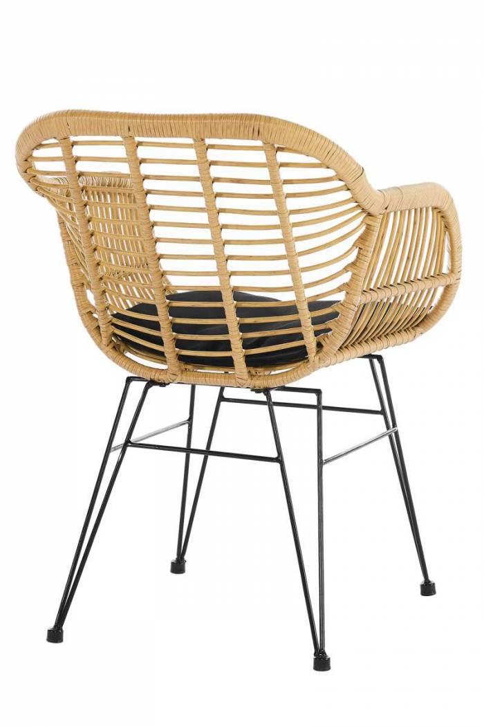 Set de 2 scaune de terasă Cadiz plastic/metal, bej