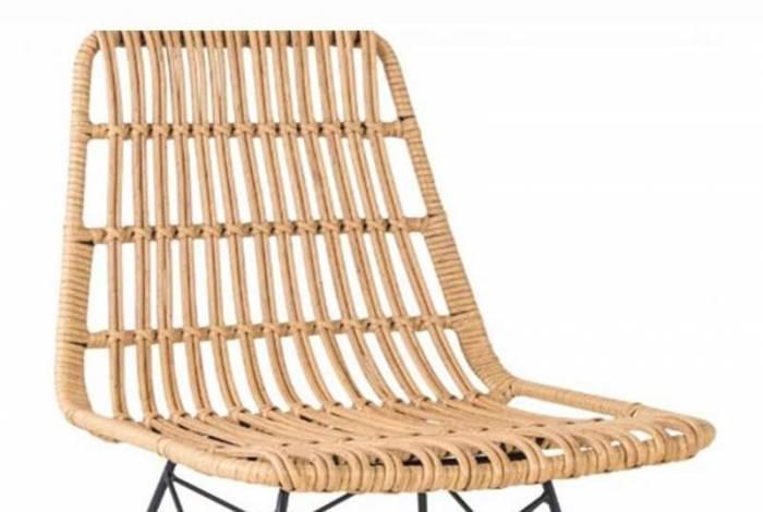 Set de 2 scaune de terasă Malaya plastic/metal, bej