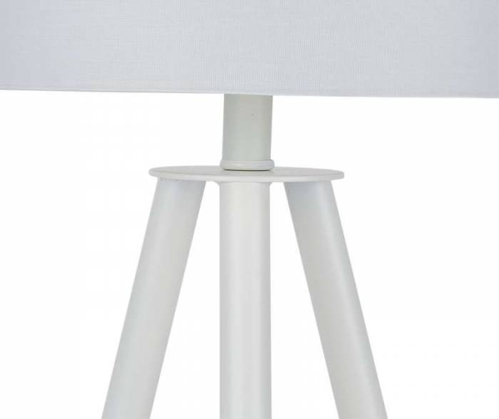 Veioză trepied Pacific, 55x30x30 cm, lemn/poliester, alb/bej