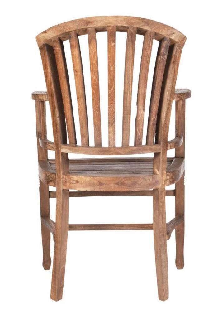 Scaun cu brațe Seguin, 95x55x55 cm, lemn, maro