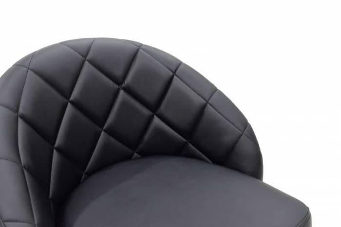 Scaun de bar tapițat Balina Black