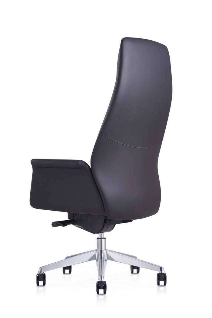 Scaun de birou negru Tamesha, 129x74x66 cm, metal/ piele ecologica, negru/ crom