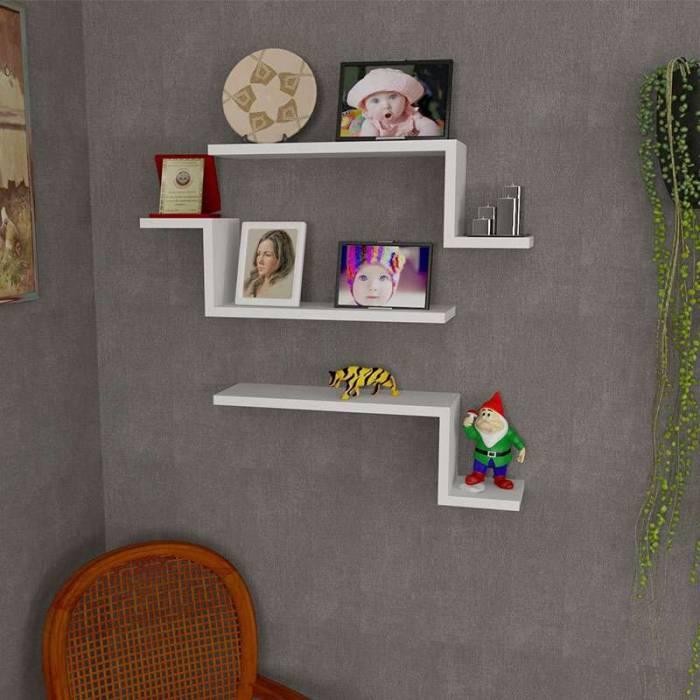 Set 3 rafturi de perete Rochelle