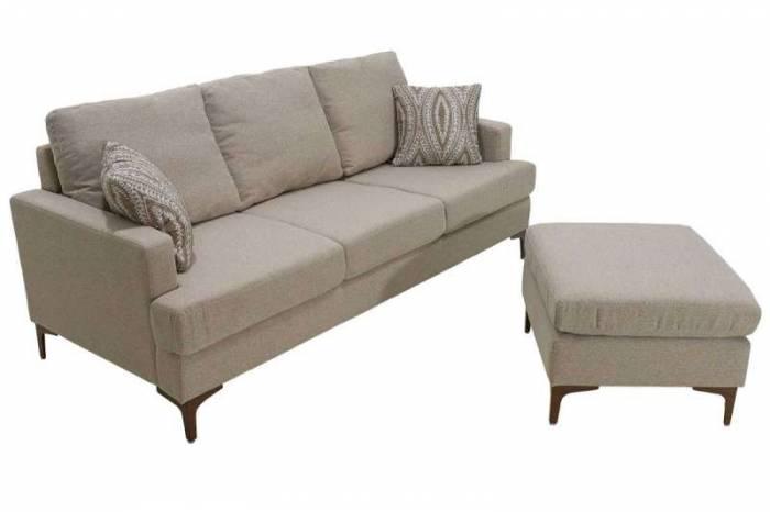 Set canapea și taburet Slim Beige