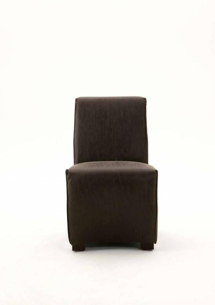 Set de două scaune dining Albero, 89.5x73x56 cm, piele/lemn, maro/negru