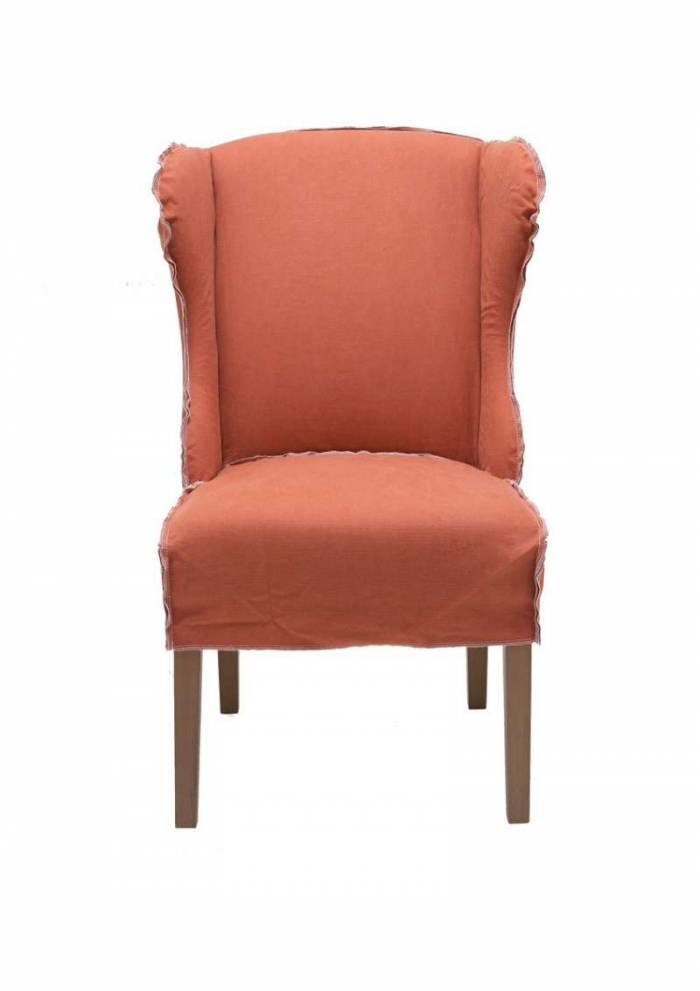 Set de două scaune Kramer, 105x74x65 cm, bumbac/lemn, rosu