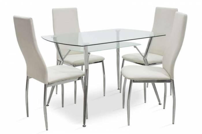 Set masă și 4 scaune Jacob White
