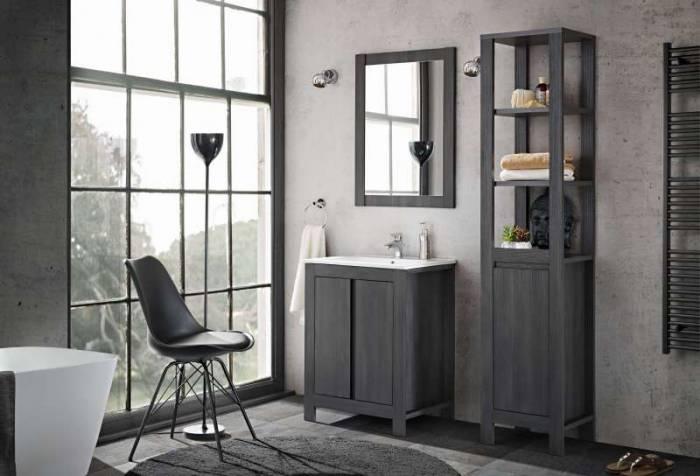 Set mobilier pentru baie Classic Grafit, pal, gri