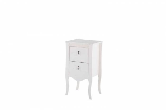 Set mobilier pentru baie Elisabeth, lemn de pin, alb