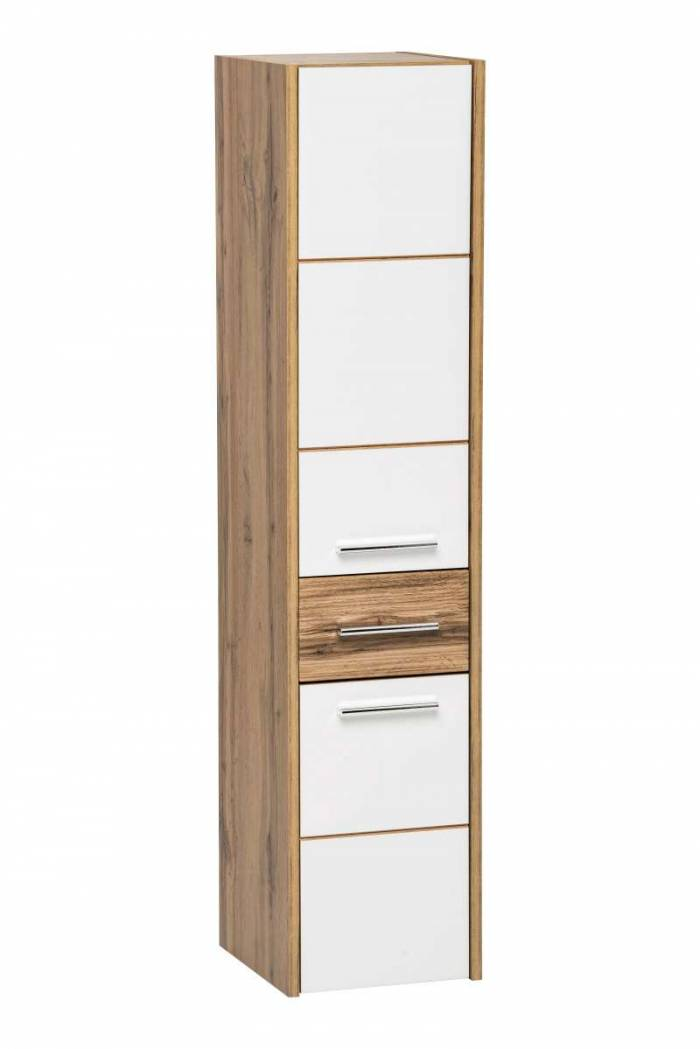 Set mobilier pentru baie Ibiza White, pal, maro/ alb