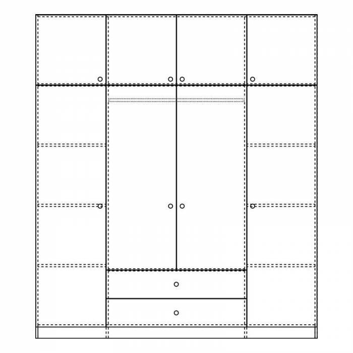 Șifonier cu 4 uși Tangela