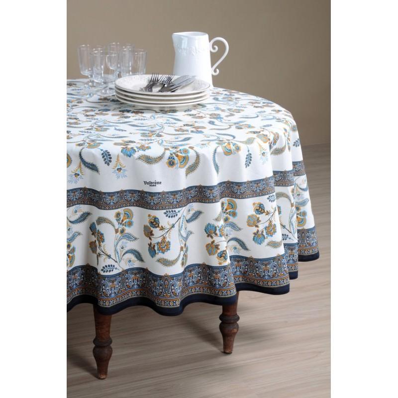 Față de masă rotundă elegantă albastră Bastide Bleu 180 cm poza