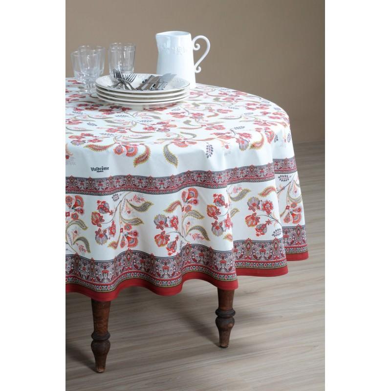 Față de masă rotundă elegantă albastră Bastide Rouge 180 cm poza
