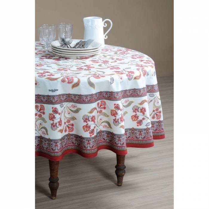 Față de masă rotundă elegantă albastră Bastide Rouge 180 cm