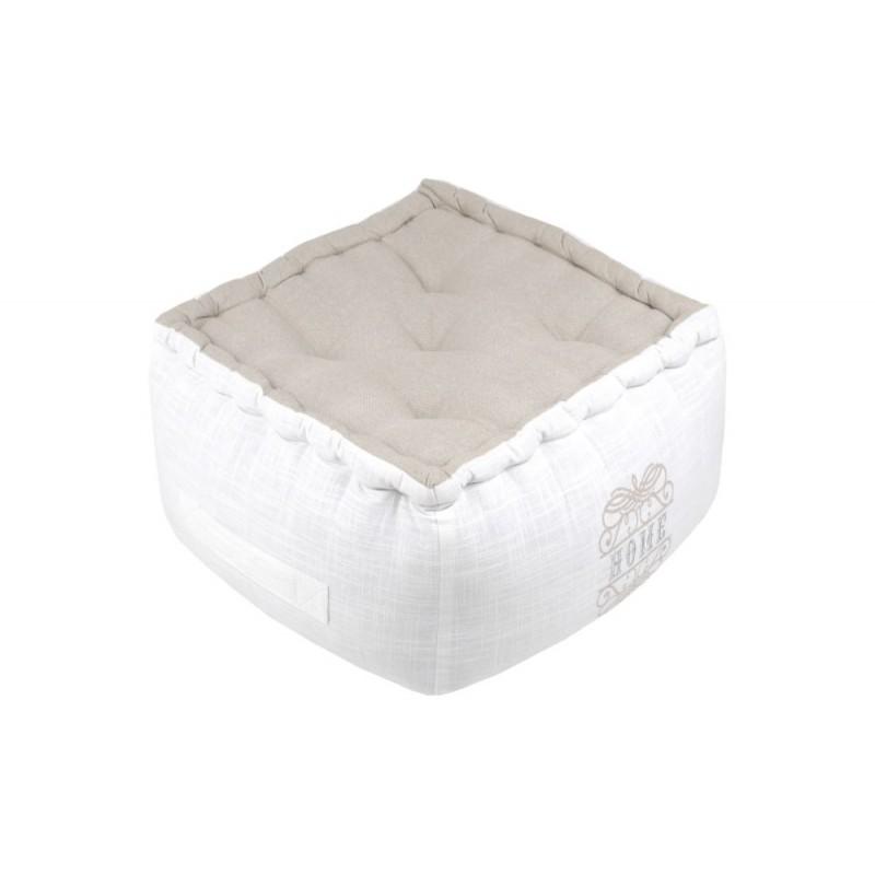 Pernă albă de podea Home Charline 40x40x30 cm poza