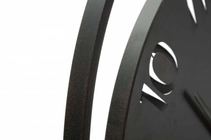 Ceas de perete Benton, 60x60x4,5 cm, metal, negru