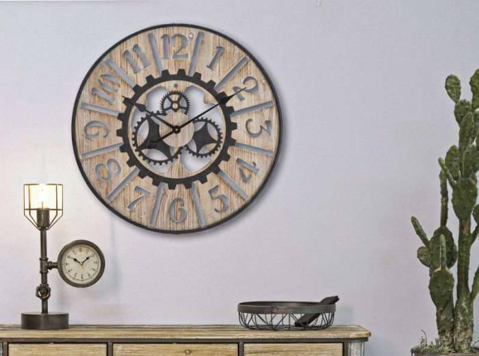 Ceas de perete Berta, 60x60x5,5 cm, metal/ mdf, multicolor
