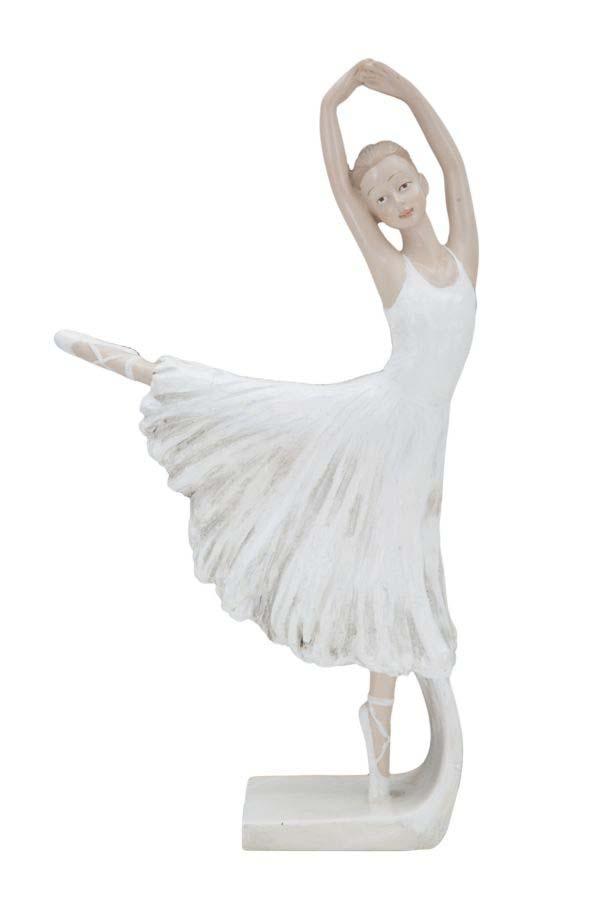 Decorațiune Estelle, 24x14x4.5 cm, rasina, alb