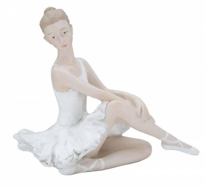 Decorațiune Estelle, 8x14x8 cm, rasina, alb