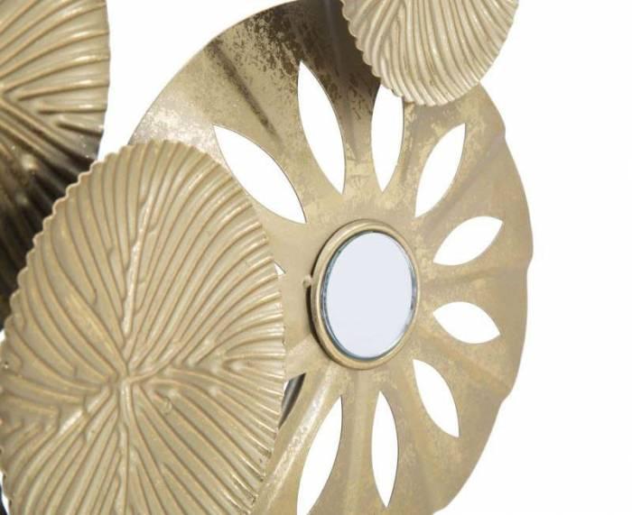 Decorațiune Izetta, 42x50x7 cm, metal, auriu/ negru