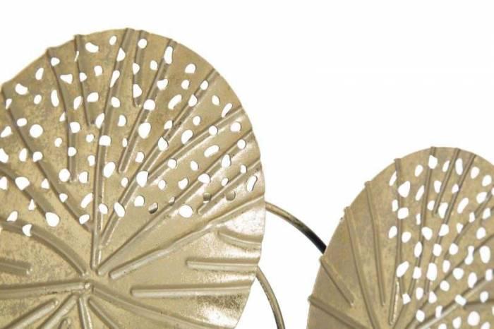 Decorațiune Izetta, 43x56x7 cm, metal, auriu/ negru