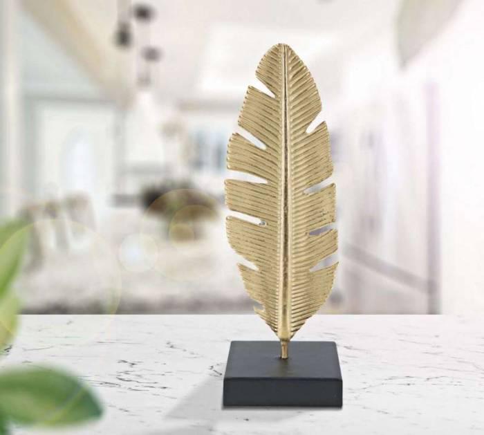 Decorațiune Ja, 30x10x10 cm, metal, auriu/ negru