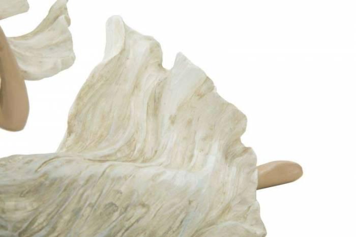 Decorațiune Jacquline, 15x23.5x10 cm, polirasina, alb/ crem