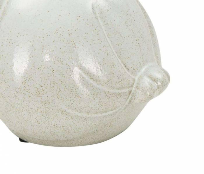 Decorațiune Jerica, 12.5x15.5x15.5 cm, ceramica, alb