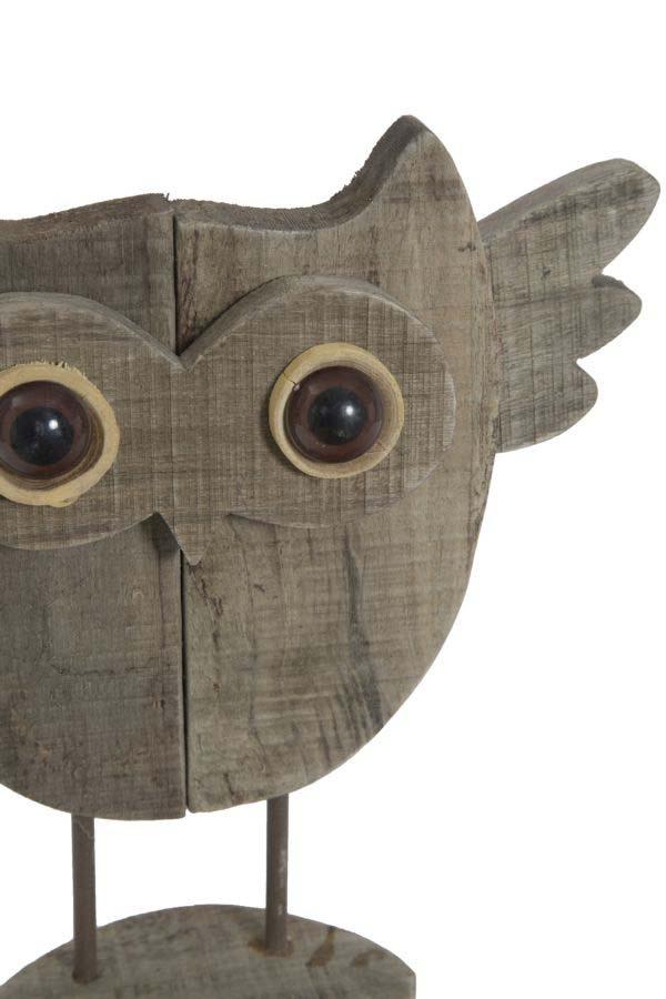 Decorațiune Jerica, 25.5x26x7 cm, lemn, maro