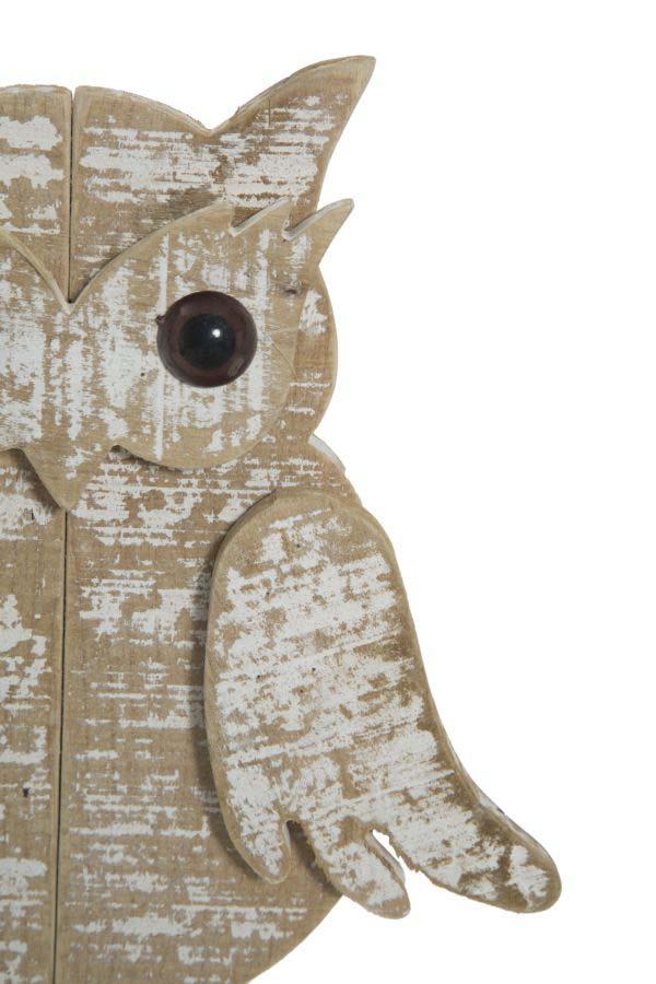 Decorațiune Jerica, 33x27.5x7 cm, lemn, maro/ alb
