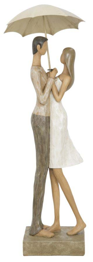 Decorațiune Leda, 45.5x15x14.5 cm, polirasina, alb/ crem