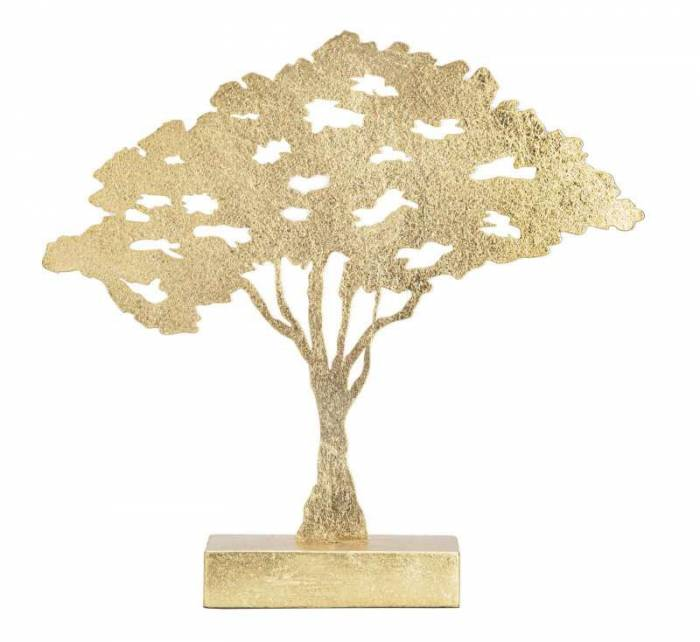 Decorațiune Linares, 41,5x43,5x8 cm, metal, auriu