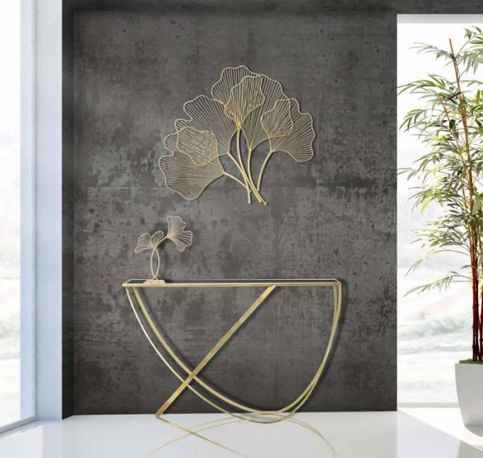 Decorațiune Linares, 44x35x11,5 cm, metal, auriu