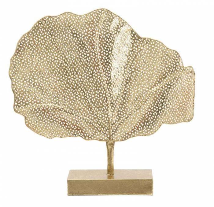 Decorațiune Linares, 56x55x10 cm, metal, auriu