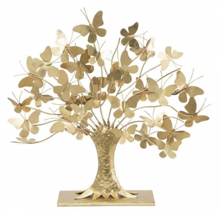 Decorațiune Linares, 60x63x13,5 cm, metal, auriu