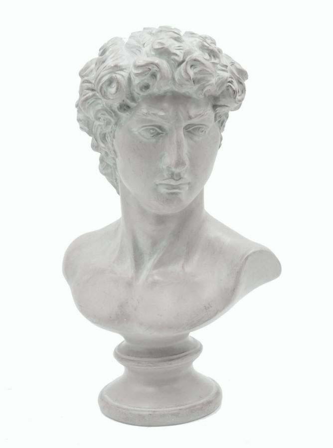 Decorațiune Valentin, 34x21,5x14,5 cm, polirasina , alb