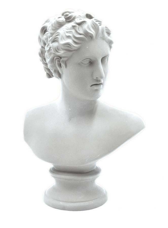 Decorațiune Vaughn, 34x21,5x14,5 cm, polirasina , alb